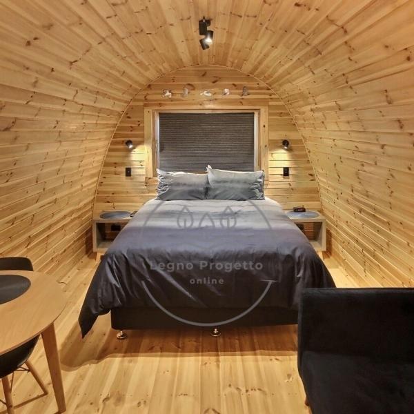 Pod bungalow isolato da campeggio