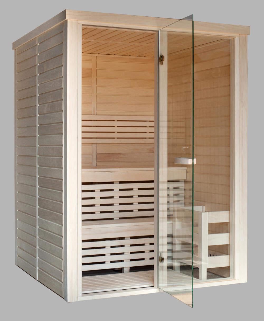 Sauna da interni prefabbricata in legno Aspen