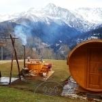 Sauna da esterno a botte tinozza piscina