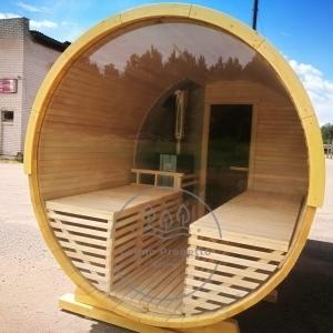 Sauna rotonda all'aperto da esterno