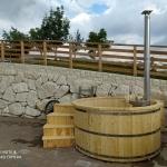 Tinozza in legno hot tub stufa a legna