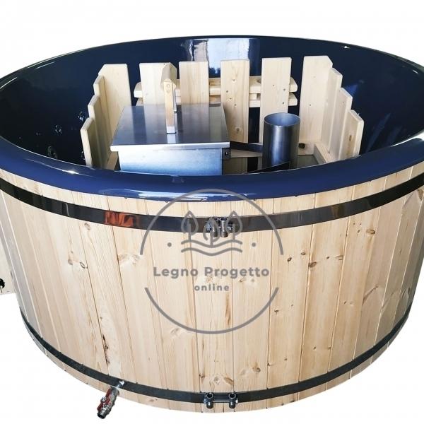 Idromassaggio da esterno Tinozza in legno riscaldabile con stufa a legna