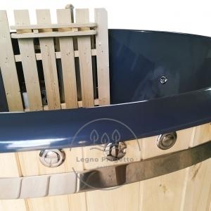 Idromassaggio da esterno Tinozza in legno riscaldabile con stufa