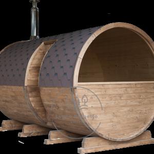 Sauna a botte da esterno all'aperto