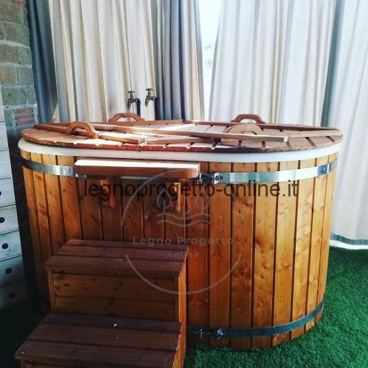 Ofuro in vetroresina e legno per Due persone vasca da ...