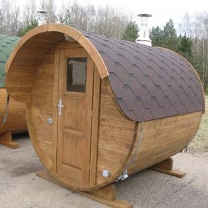 Sauna rotonda a botte 2 m. ø 2.10 da esterno