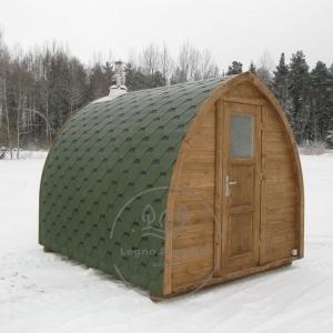 sauna igloo all'aperto in giardino