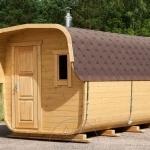 Sauna da esterno rettangolare
