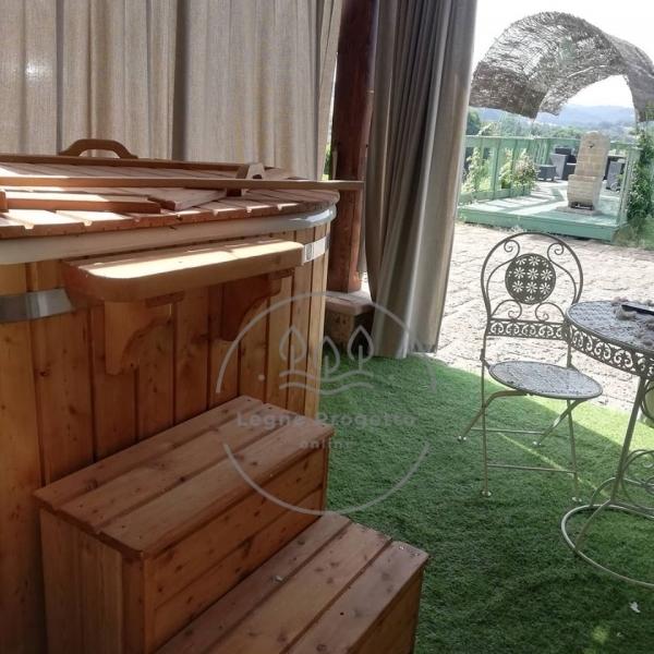 Vasca in legno spa