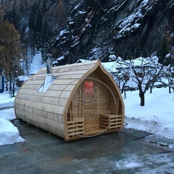 Sauna da esterno casetta in legno