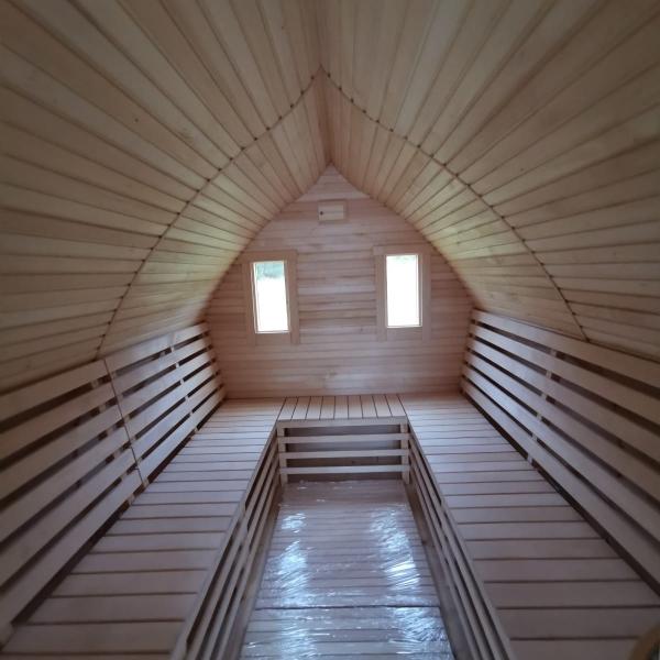 Sauna moderna da esterno