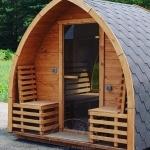 Sauna Igloo all'aperto