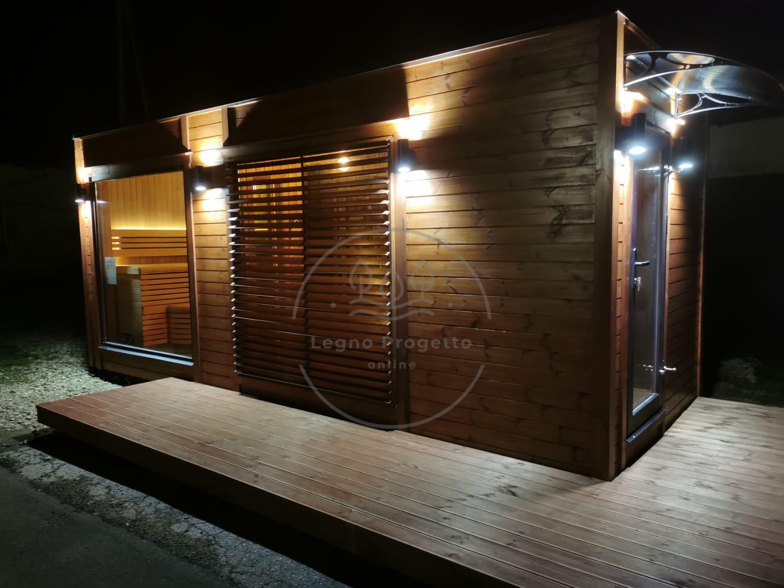 Sauna moderna SIP panelli