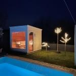 sauna moderna da esterni